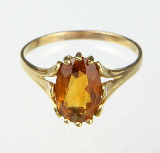 Citrin Ring - Gelbgold 333 - photo 2
