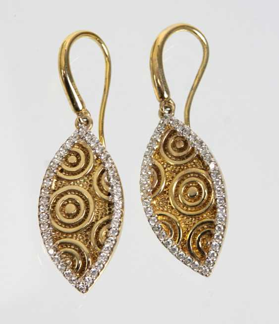 Pair of drop earrings with cubic Zirconia - photo 1