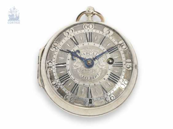 Pocket watch: extremely rare French Oignon, made in the English style, master watchmaker, Pascal Hubert à Rouen, circa 1695 - photo 1