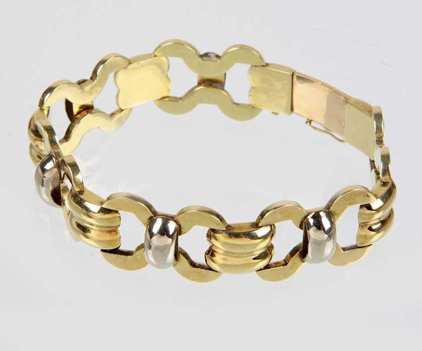 ausgefallenes Schmuckarmband - Gelbgold/WG 585 - photo 1