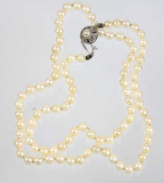 long genuine Akoya pearl necklace - photo 1