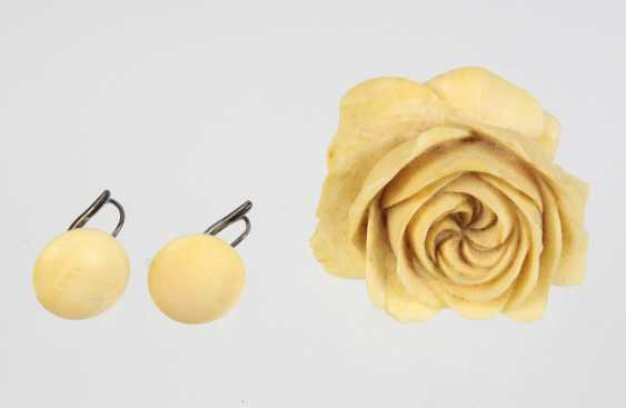 Roses brooch & earrings 1920 - photo 1