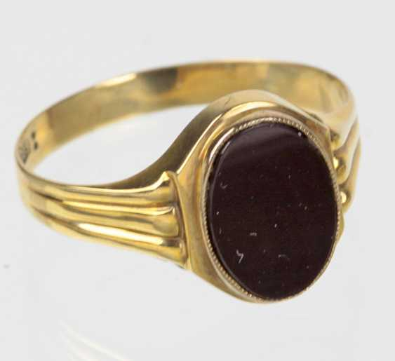 Onyx Ring - Gelbgold 333 - photo 1