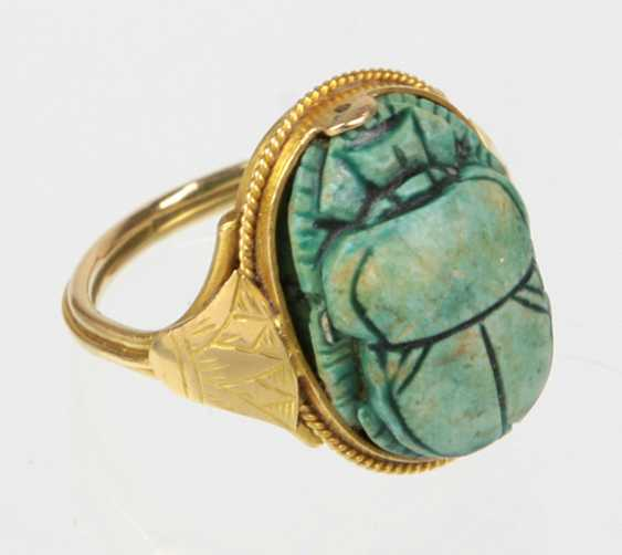Ring mit Skarabäus - Gelbgold 333 - photo 1
