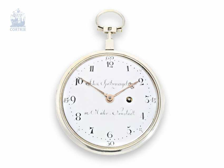 Pocket watch: extremely rare German pocket watch, Johann Spitznagel in Mährisch-Neustadt in Olomouc (today Uničov in the case of Olomouc), an extremely rare caliber, CA. 1790 - photo 1