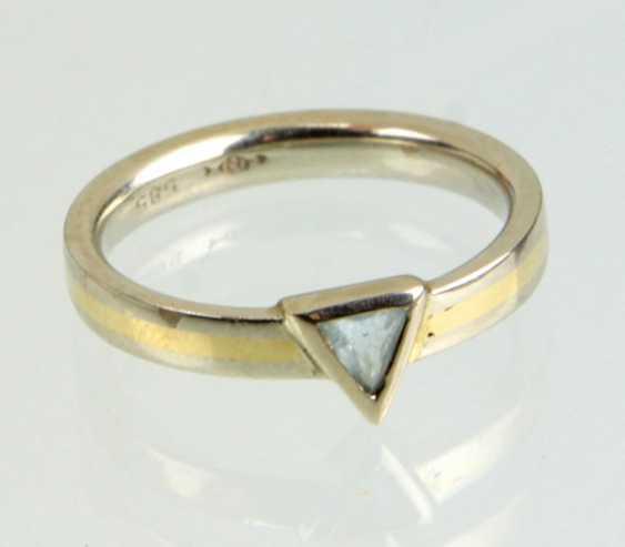 Design Ring mit Blautopas - Gelbgold/WG 585 - photo 1