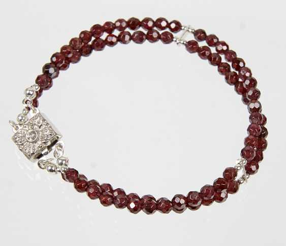 2-row garnet bracelet - photo 1
