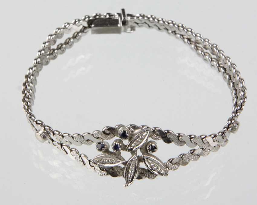 Bracelet with sapphire - photo 1