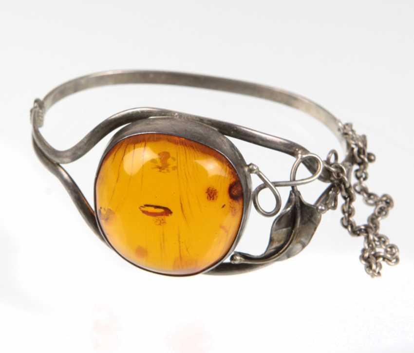 Bangle with amber - photo 1