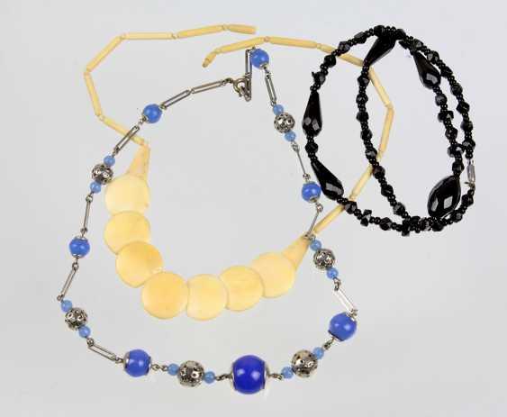 3 Art Deco necklaces 1930s - photo 1