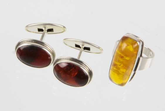 Amber Ring & cufflinks - photo 1