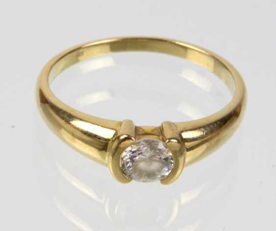 Zirkonia Ring - Gelbgold 333 - photo 1