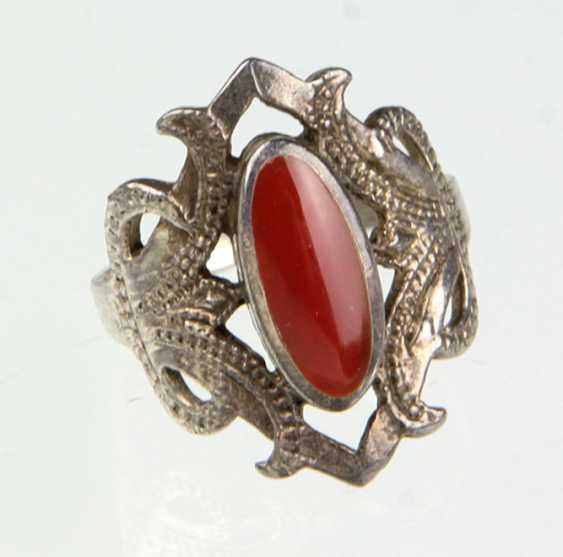Handmade ring with carnelian - photo 1