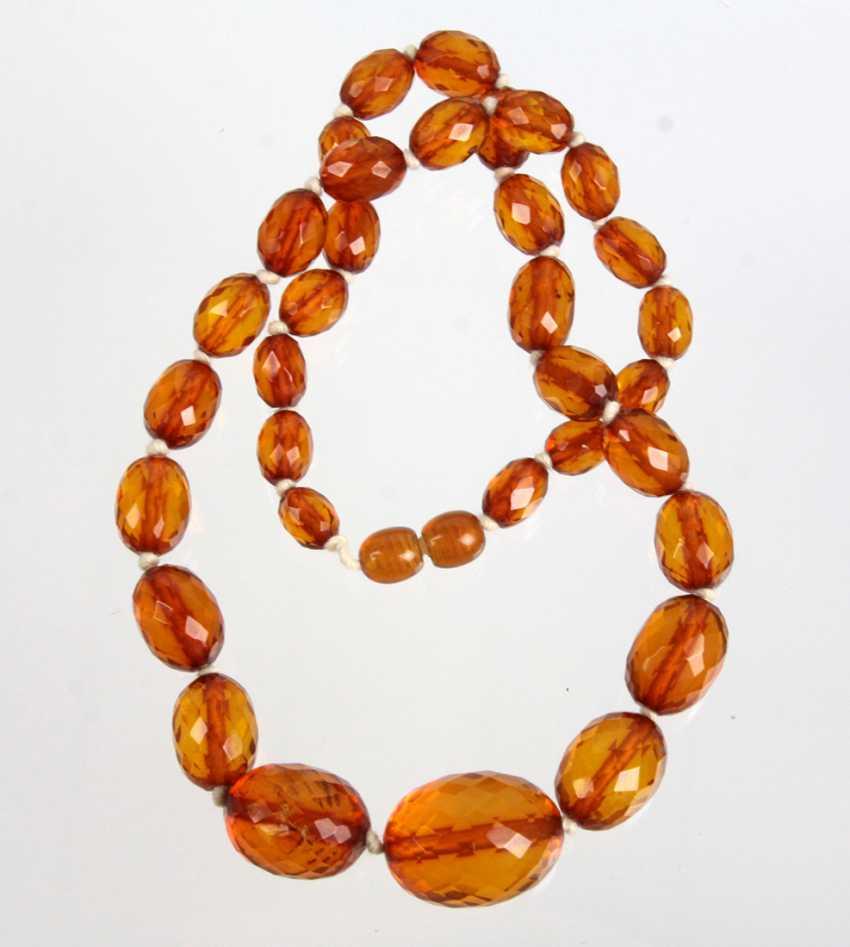 faceted amber necklace Königsberg - photo 1