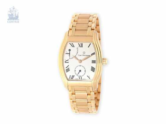 """Watch: heavy, Ross Golden men's watch, Bucherer Archimedes """"Grand Tonneau Power-Reserve"""", never worn - photo 1"""