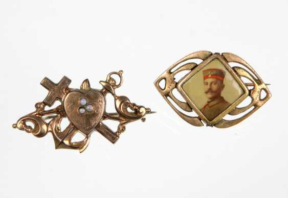 2 art Nouveau brooches from around 1900 - photo 1