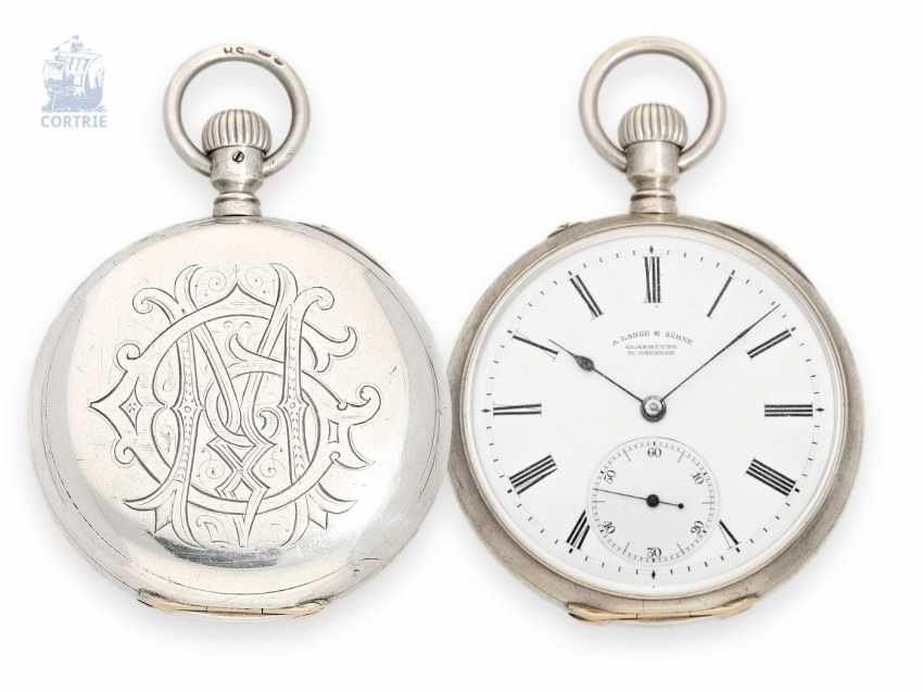 Pocket watch: early pocket watch by A. Lange & Söhne Glashütte, CA. 1884 - photo 1