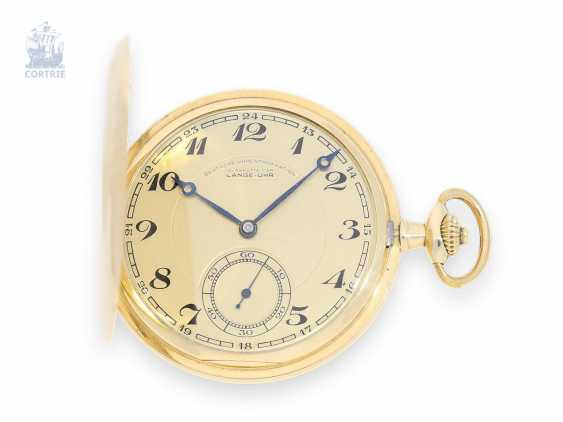 Pocket watch: flat glashütte gold savonnette, German watch manufacturing for a Long time-at OLIW No. 502480, 1933 - photo 1