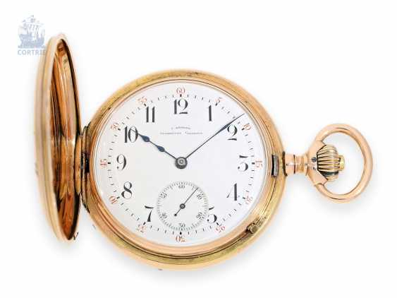 Pocket watch: quality, red-gold Savonnette Julius Assmann Glashütte No. 11195, around 1890 - photo 1
