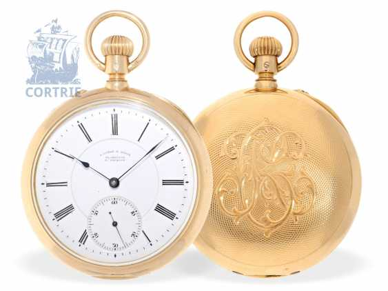 Pocket watch: fine, heavy A. Lange & Söhne Glashütte Anchor chronometer No. 40532 from the year 1898 with the master excerpt from the book - photo 1