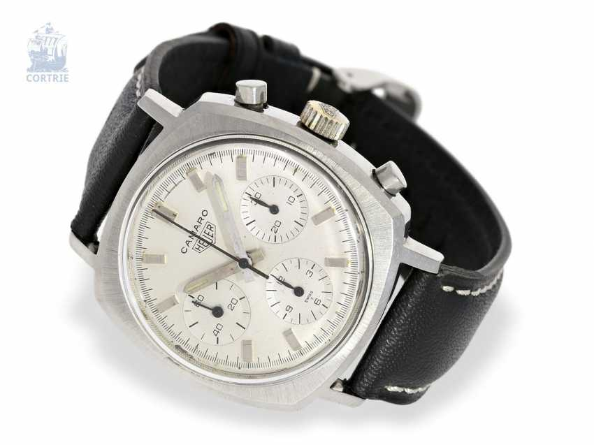 Watch: sought-after vintage Chronograph, Heuer Camaro Valjoux 72, approx 1970 - photo 1