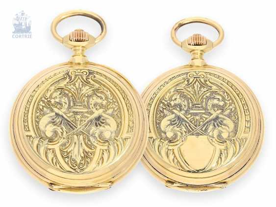 Pocket watch: very rare and attractive rockers-winding Chronometer with Renaissance pageantry housing, Mugnier & Cie, 1870 - photo 1