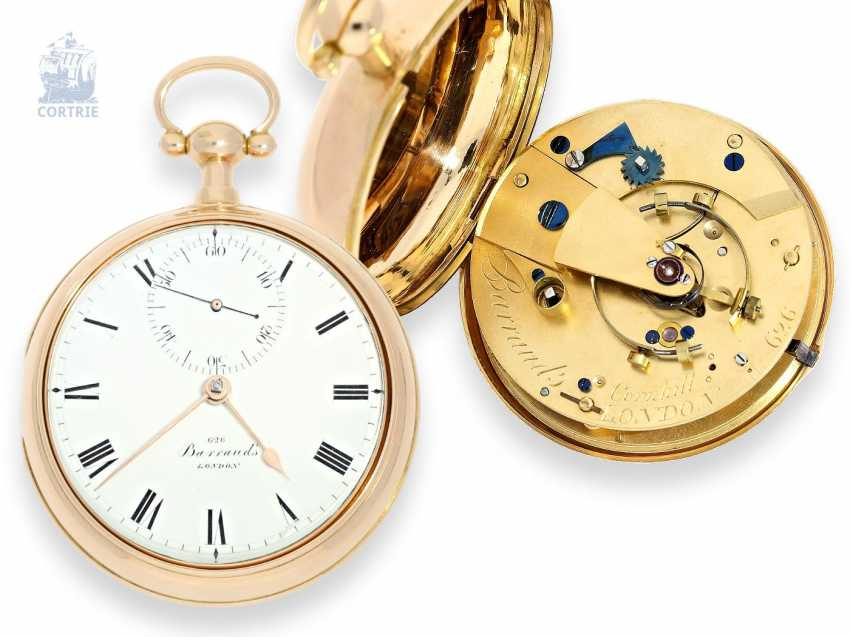 Pocket watch: important and technically highly interesting English Paircase Pocket chronometer, Barraud's London no. 626 - photo 1