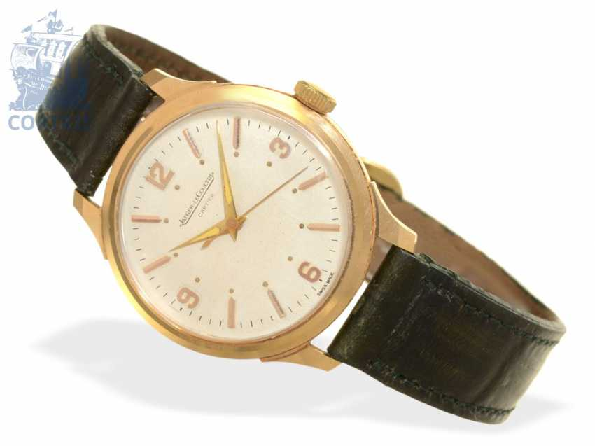Watch: extremely rare men's watch with Central second, Jaeger Le Coultre/Cartier-calibre P478C, around 1950 - photo 1