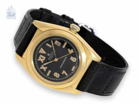 """Watch: very attractive Rolex Oyster Chronometer """"Bubble Back"""" Ref.3372 with the rare black """"California Dial"""", C. 1940 - photo 1"""