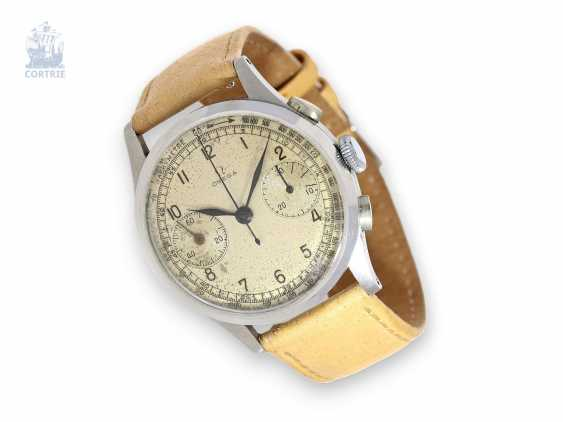 Watch: very rare and sought-after, big-Omega steel-Chronograph Ref.987 from the year 1945 - photo 1