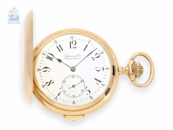 Pocket watch large and heavy Audemars Freres gold savonnette with quarter-hour-Repetition, Switzerland around 1910 - photo 1