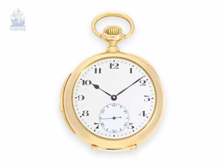 Pocket watch: extremely fine, small precision pocket watch with minute repeater, excellent quality, Bornand, Sainte-Croix & Genève, No. 7142 - photo 1