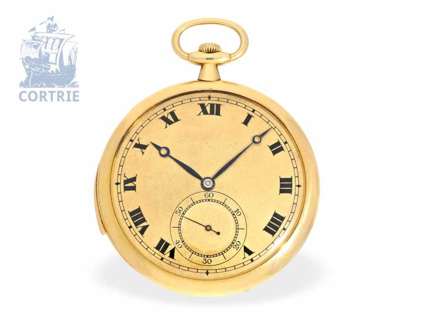 FOB watch: ultra-flat, very rare Frackuhr with minute repeater, Henry Moser, calibre Audemars Piguet No. 13954, around 1905 - photo 1