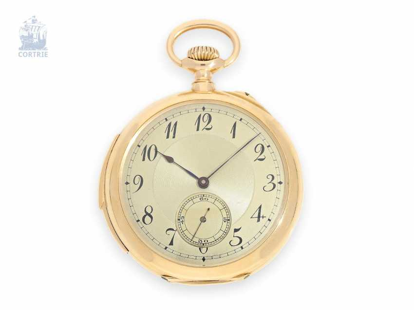 Pocket watch: exquisite man's pocket watch with minute repetition, Le Coultre & Cie./G. which makes La Chaux-de-Fonds, 1915, of former nobility, the possession of - photo 1