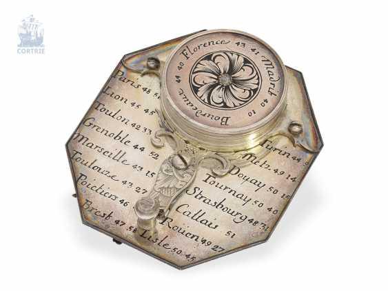 Sundial: very rare, Museum-like Equatorial sundial Butterfield dial, Macquart, Paris, around 1730, with original case - photo 3