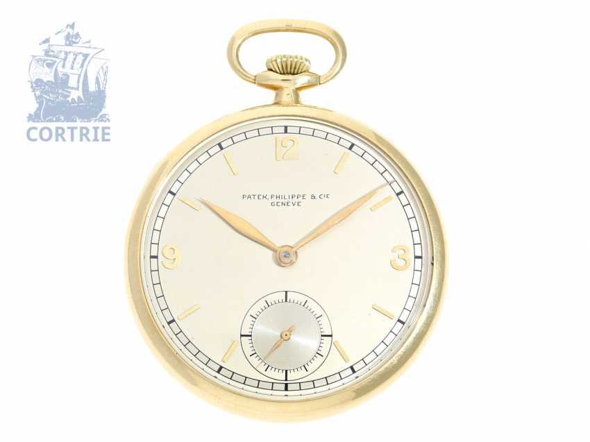 Pocket watch: mint condition Patek Philippe Frackuhr in top quality with special case and of the finest quality with the Geneva seal, CA. 1938 - photo 1