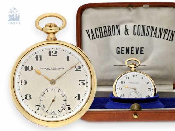 Pocket watch: very fine precision pocket watch, Vacheron & Constantin, Geneve, circa 1920, with original box - photo 1