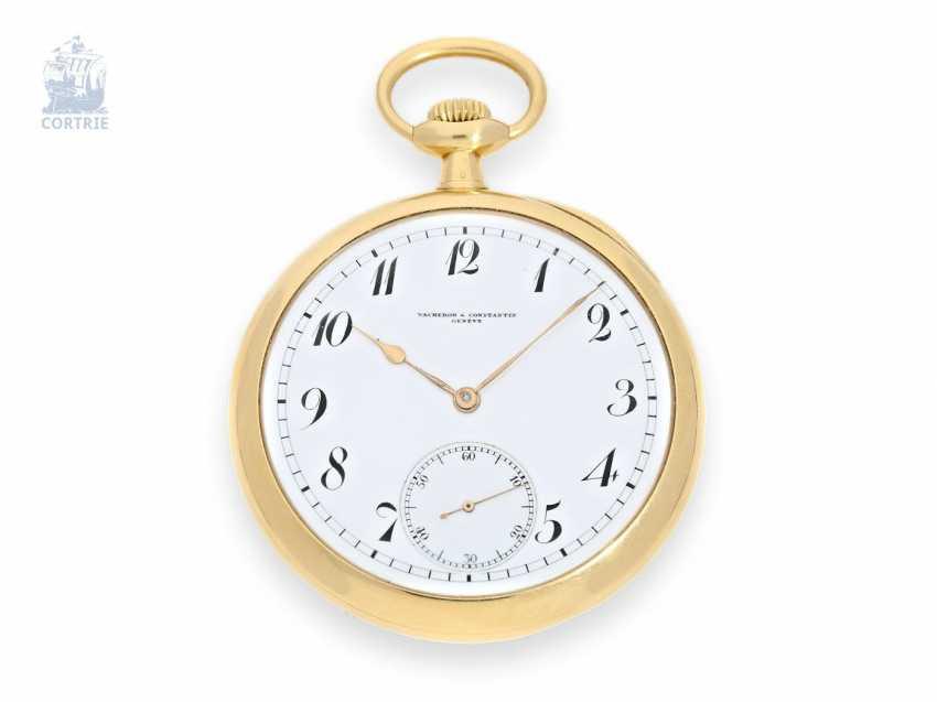Pocket watch: exquisite, large, Vacheron & Constantin, Anchor chronometer No. 366484, CA. 1918 - photo 1