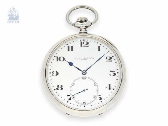 """Pocket watch: extremely rare Vacheron & Constantin Observation chronometer """"CHRONOMETRE ROYAL"""", made in a mini-series for the British Navy, 40s - photo 1"""