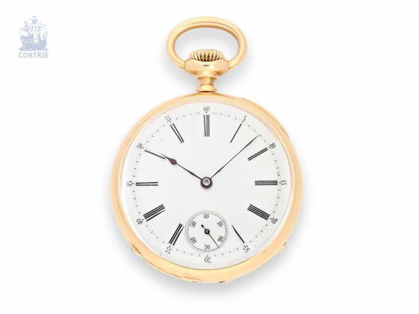 Pocket watch: Patek Philippe, rare, anti-magnetic pocket watch with Gold balance wheel, gold anchor and Palladium spiral, Patek Philippe No. 62050 from the year 1881 with the master excerpt from the book - photo 1