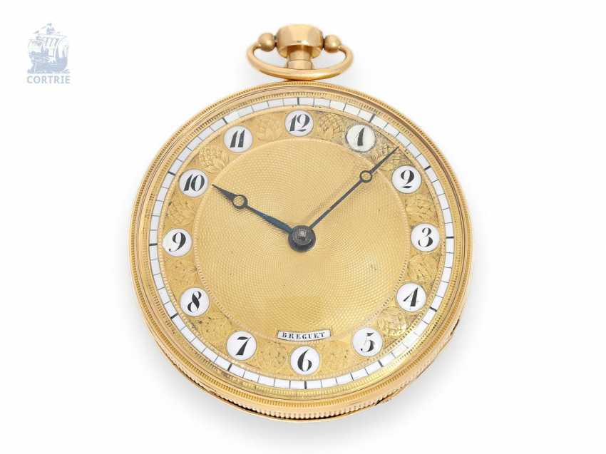 Pocket watch: decorative Spindeluhr with repeater signed Breguet, around 1800 - photo 1