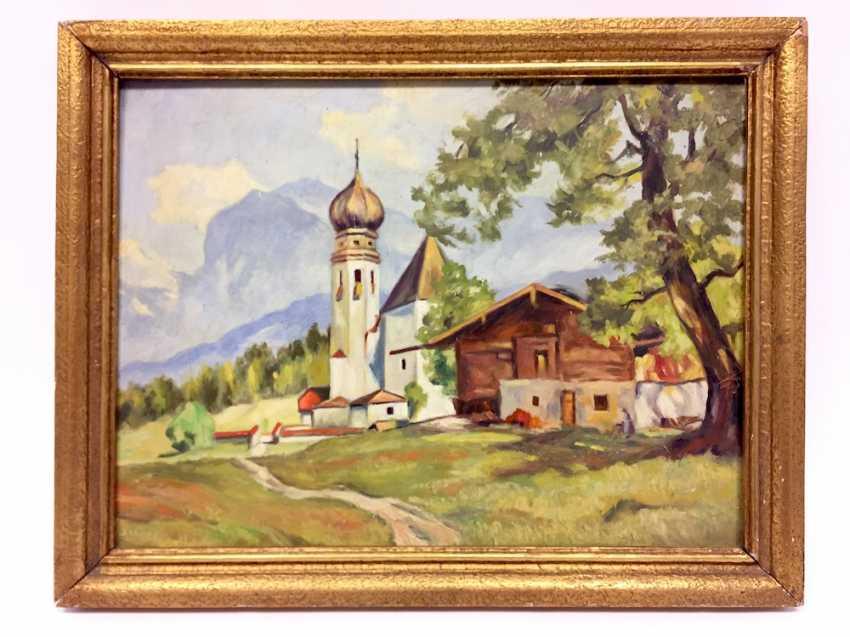 Unbekannter Künstler: Landschaftsansicht / Dorf-Ansicht in Tirol ...