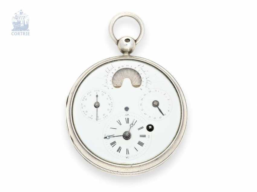 Pocket watch: a Museum, an astronomical pocket watch with an extremely rare display of sunrise, sunset, and number of hours of sunshine, Ferdinand Berthoud a Paris, C. 1810 - photo 1