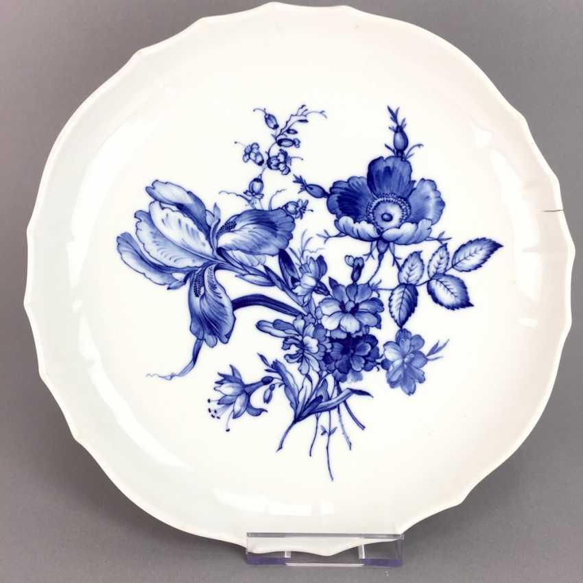 anbietteller runde platte meissen porzellan dekor deutsche blume in blau form neuer