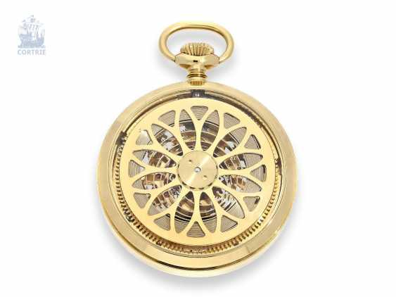 Pocket watch: rare, skeletonized pocket watch with 8-day movement, Golf Skeleton Ref.102, limited Edition No. 1198, 80s/90s, new-old-stock - photo 1
