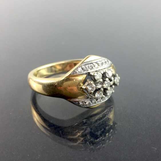 Großer Anhänger Cubic Zirconia 925 Silber 585 Weißgold vergoldet