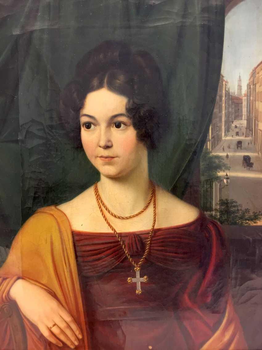 Carl Christian Vogel von Vogelstein: Oil/canvas, Portrait of Mathilde Alt, geb. Müller, 1802-1837, 1830, excellent! - photo 1