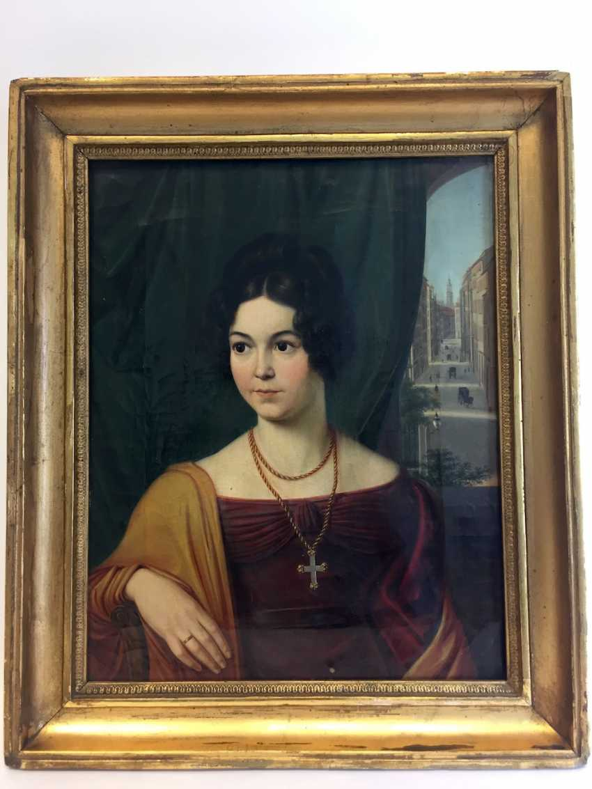 Carl Christian Vogel von Vogelstein: Oil/canvas, Portrait of Mathilde Alt, geb. Müller, 1802-1837, 1830, excellent! - photo 3