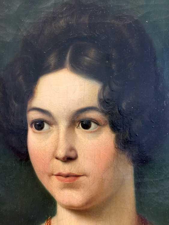 Carl Christian Vogel von Vogelstein: Oil/canvas, Portrait of Mathilde Alt, geb. Müller, 1802-1837, 1830, excellent! - photo 4