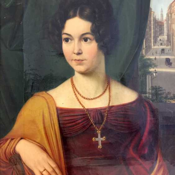 Carl Christian Vogel von Vogelstein: Oil/canvas, Portrait of Mathilde Alt, geb. Müller, 1802-1837, 1830, excellent! - photo 2